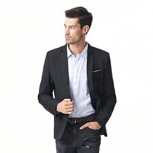 Image 3 - FGKKS New Arrival Fashion Blazer męska casualowa kurtka solidna kolorowa bawełniana męska żakiet z dzianiny dresowej męska klasyczna męska marynarka płaszcze