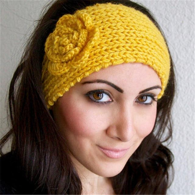 Bloem Haarband Vrouwen Gebreide Headwrap Breien Haak Hoofdband Oor