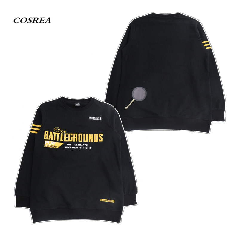 COSREA New Arrival Playerunknown's Battlegrounds PUBG Cosplay Costume Warm Black Costumes Halloween Party For Men