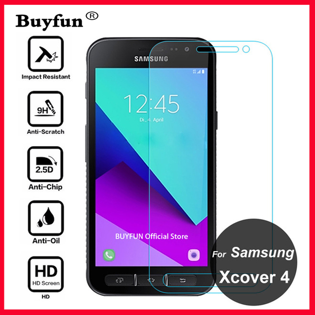 quality design cd94f 75f24 US $1.71 17% OFF|For Samsung Galaxy Xcover 4 Screen Protector 9H Tempered  Glass Safety Protective Film On XCover4 X Cover4 G390F G390 Tremp Glas-in  ...
