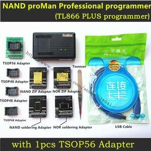 Image 1 - XGecu ProMan Professionale TL866 PLUS Programmatore + TSOP56 Adattatore + TSOP48 Adattatore Copia Nand NOR Flash Chip di Recupero di Dati programmatore