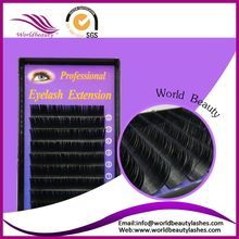Free Shipping! All Size 0.10/0.12/0.15/0.20/0.25mm J B C D Curl Individual Eyelashes Extension 1 Tray Per lot Black color