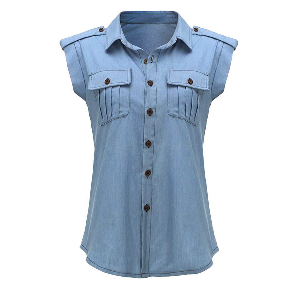 Compare Prices on Sleeveless Denim Shirt- Online Shopping/Buy Low ...