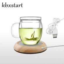Kbxstart креативная usb-чашка, не нагревается, кофейная, молочная, чайная чашка, сохраняет тепло, круглая, мультиколор, грелка для офиса, дома, ребенка