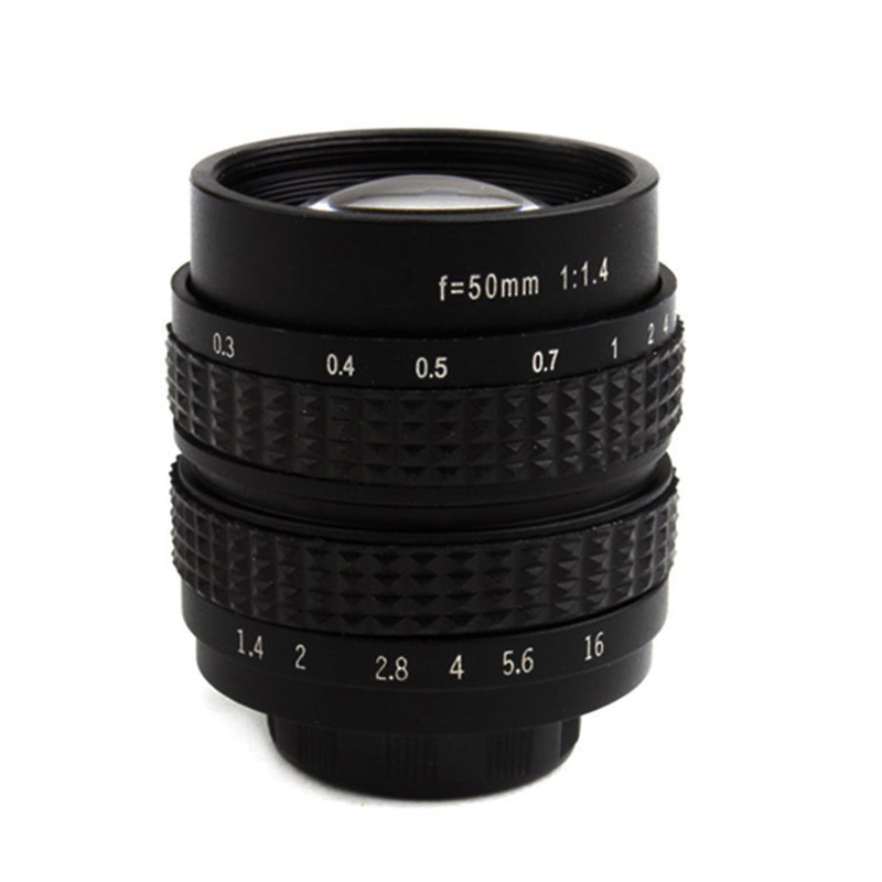 1pcs 50mm F1.4 CCTV TV Movie lens C-NEX Mount for SONY E Mount NEX3 NEX6 NEX7 A6500 A6300 A6000 A5000 image