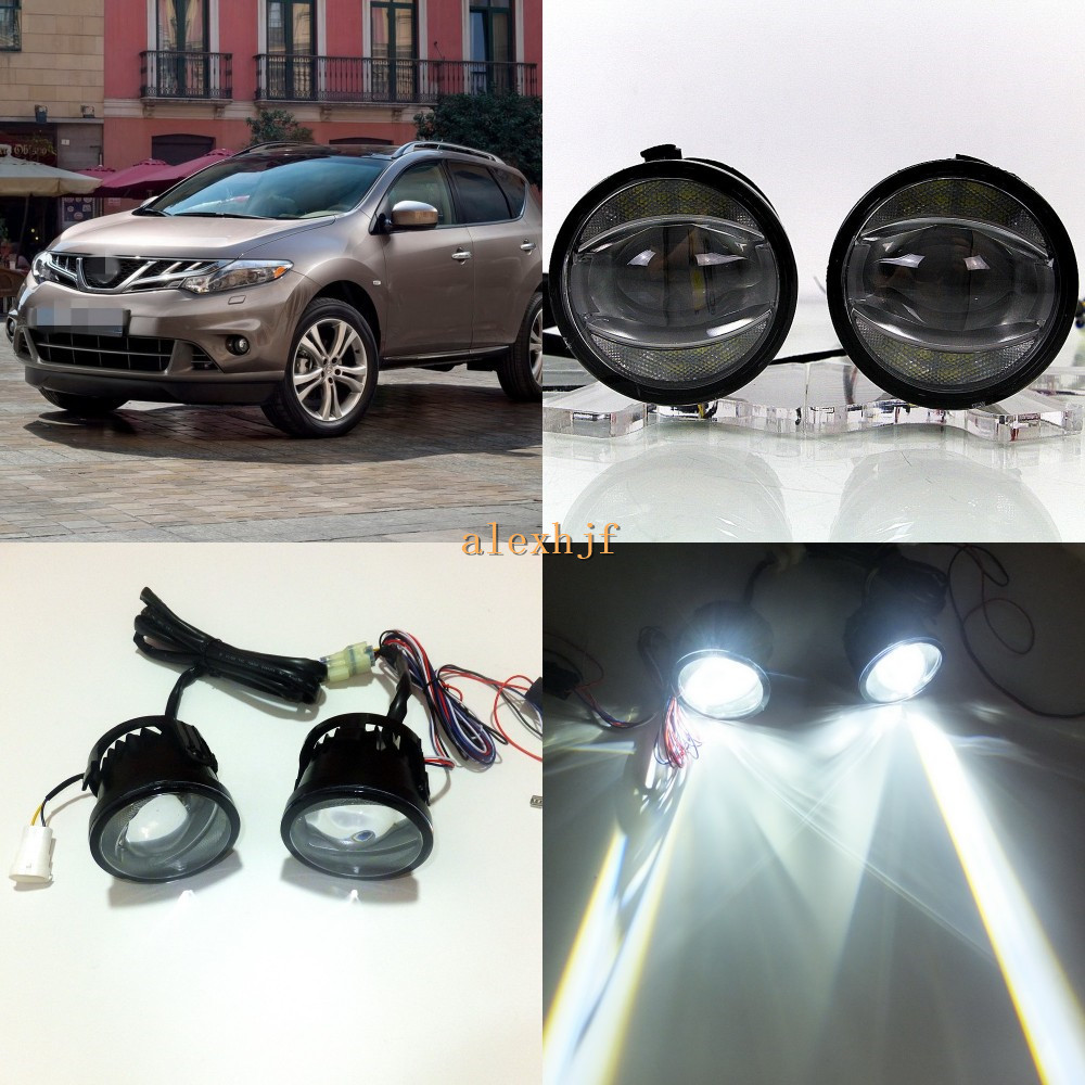 July king 1600lm 24w 6000k led light guide q5 lens fog lamp 1000lm 14w day