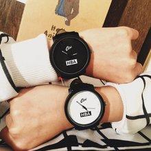hot deal buy lovers watches women men leather strap unisex watches men quartz women dress watch sports military relojes wristwatch