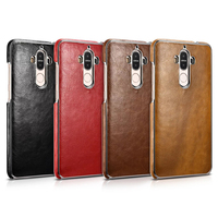 Huawei Mate 9 Case Vintage Huawei Mate 9 Cover High Quality Luxury Leather Electroplating Hard Back