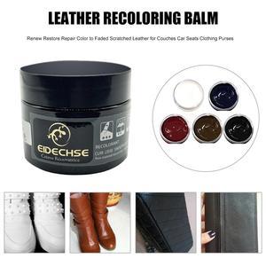 Image 3 - 50ML voiture Auto cuir Recoloring baume renouveler restaurer réparation couleur à délavé ou cuir éraflure réparation pour Couches sièges de voiture sacs à main