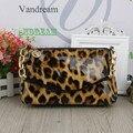 2016 new PU bag ladies fashion retro leopard fashion handbags fashion leisure Purse evening shoulder  bags