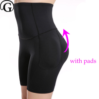 PRAYGER Plus Size 4XL Women High Waist Padded Shaper Removable Pads Butt Lifter Control Panties Slimming