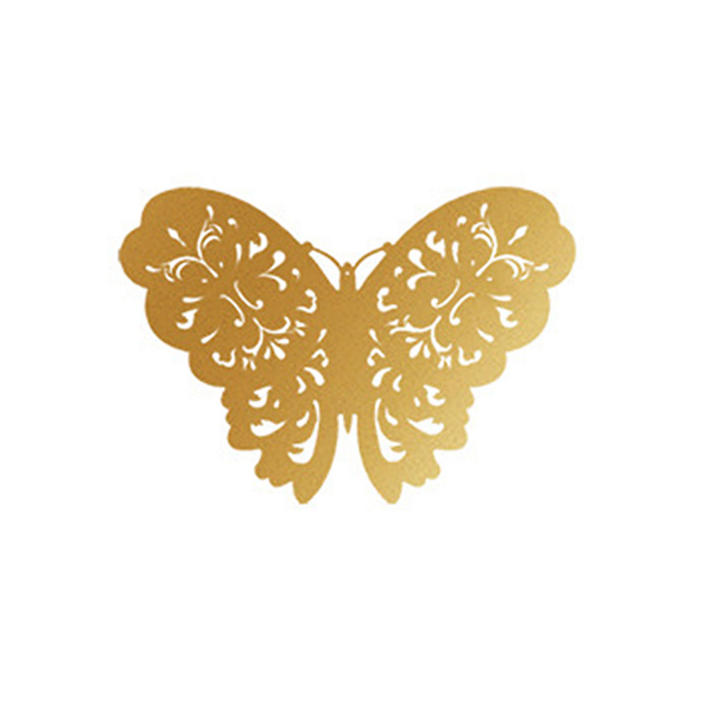 12pcs/lot 3D PVC Wall Stickers Hollow Butterflies DIY Home Decor ...