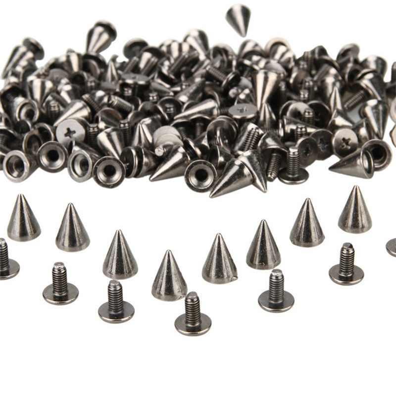 7*10MM עגול כתמי Spikes קון הרבעה מתכת מסמרת כדור בורג עבור DIY Leathercraft כסף