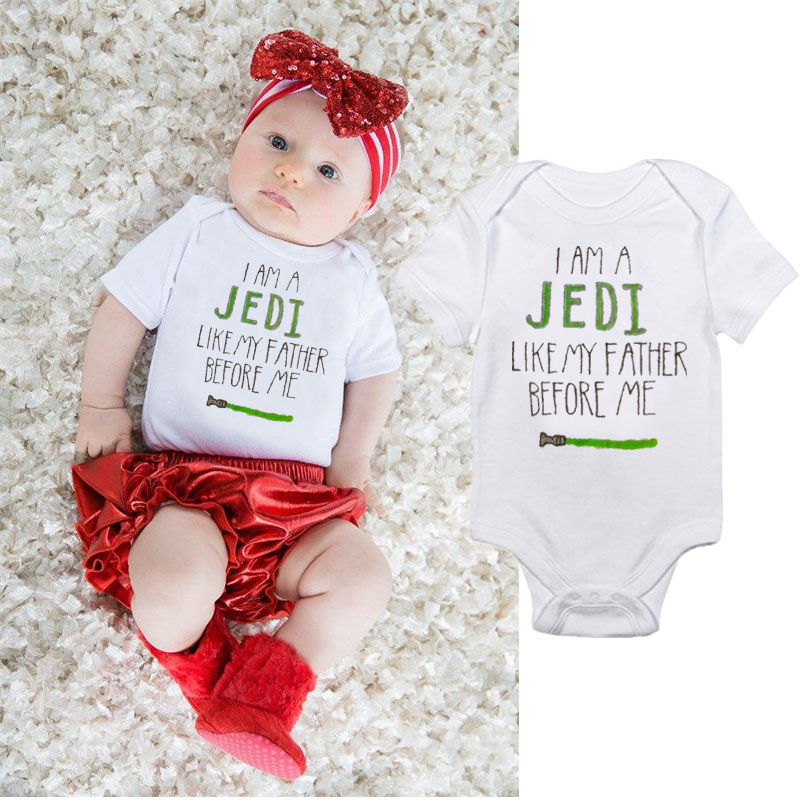 Jedi like my Father before me Star Wars Inspired Baby  Babygrow Bodysuit