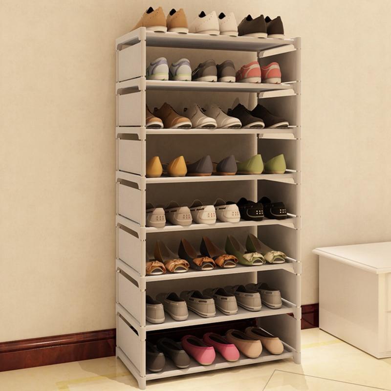 Новая мода узор обувной шкаф Обувь Стойки хранения больших Ёмкость Мебель для дома DIY простой 7 слоев #236471