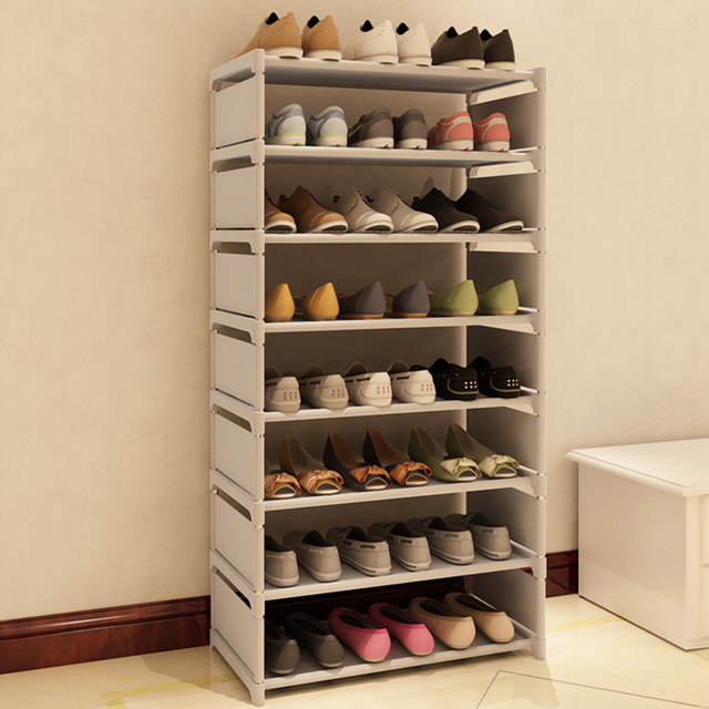 New Fashion Pattern Shoe Cabinet Shoes Racks Storage Large Capacity Home  Furniture DIY Simple 7 Layers