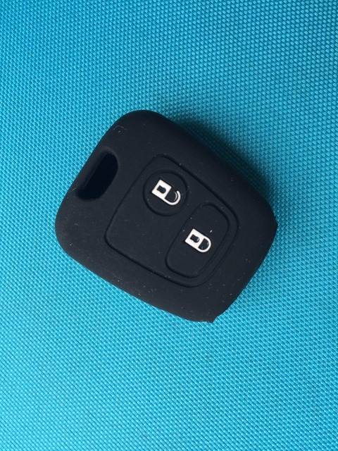 Pusakieyy 1pc 2 BUTTON SILICONE COVER FOR citroen C1 C2 C3 C4 XSARA PICASSO for peugeot 106 107 206 207 307 For toyota AYGO key