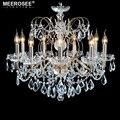 Европейская мода хрустальная люстра лампа 9 Arms свеча осветительные приборы железное Домашнее освещение E14 E12 Ретро люстры