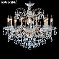 Европейской моды хрустальная люстра лампа 9 оружия свеча горит светотехника гладить домашнего освещения E14 E12 Ретро люстры