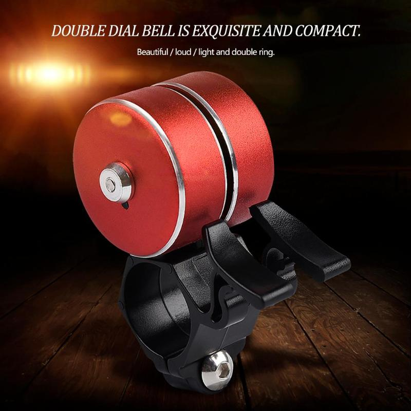 Safety Cycling Loud Bicycle Ring Bell Horn Double Bell Alarm for Outdoor