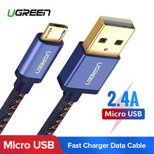 Ugreen Micro USB Charging Cable for Xiaomi Note 2.4A Fast Charger Mobile Phone USB Cable for Samsung S7 Huawei Android USB Cord(China)