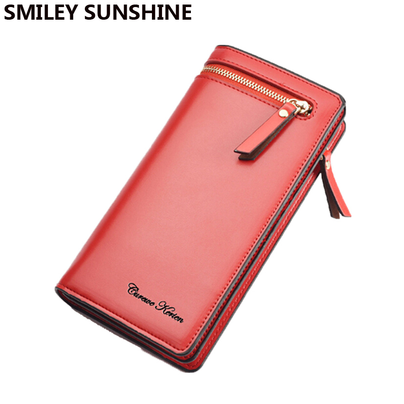 New Luxury Leather Female Wallet Fashion Women Wallets and Purses Brand Long Women Clutch coin purse holders portefeuille femme 2017 unique design women fashion leather wallet leisure clutch bag long purse girl female portefeuille mme a8