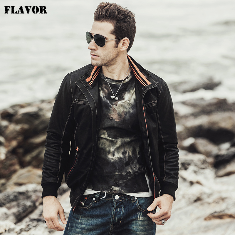 FLAVOR 2017 NEW Men s Real leather coat Padding cotton warm Autumn Winter male Genuine Leather NEW Men's Real leather coat Padding cotton warm Autumn Winter male Genuine Leather Jacket