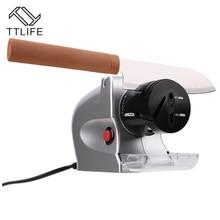 TTLIFE 2017 Hohe Qualität DC Elektrische Bleistiftspitzer Maschine Rad Mehrzweck Schleifen Schere Küche Messerschärfer