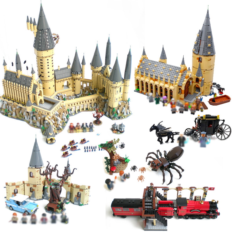 LEPIN Classic Movie Hogwarts Castle Express Hogwarts Great Hall Building Blocks Bricks Toys For kids gift legoINGly 71043 75954 new 1628pcs lepin 07055 genuine series batman movie arkham asylum building blocks bricks toys with 70912 puzzele gift for kids