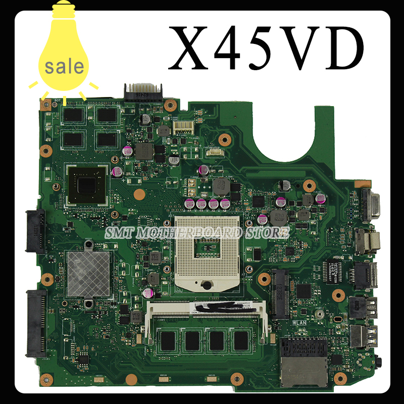 For ASUS X45VD REV 2.0 motherboard X45V laptop mainboard GT610M With 2GB RAM Slots tested well free shipping for asus m50sr laptop motherboard m50vm rev 2 0 motherboards 100% tested free shipping