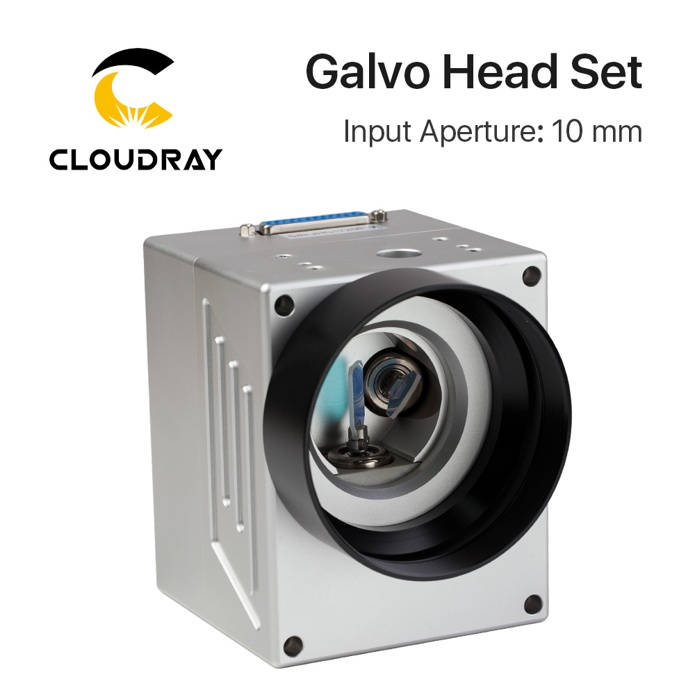 Cloudray 1064nm Fiber Laser Scanning Galvo Head Input Aperture10mm Galvanometer Scanner with Power Supply Set