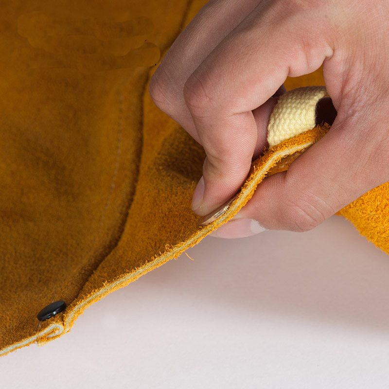 Welding trousers breathable work pants cowhide pants spark wear-resistant heat resisting split cow leather welder apron