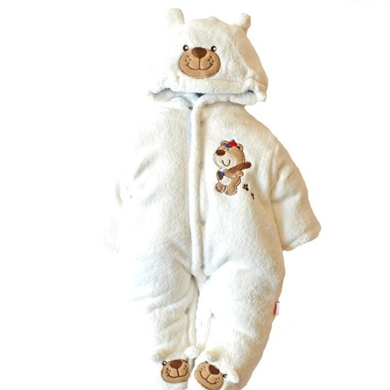 Quality Hooded Winter Baby Bodysuit New Born Next Cute Children Clothing Jumpsuits Casual Boy Girl Clothes Layette Kids Coat hot cute newborn baby girls romper winter baby girl clothing set vintage clothes lace floral coat toddler layette down warm next