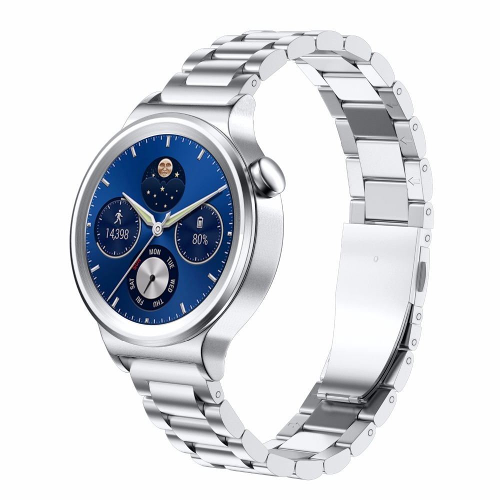 18mm width strap Stainless Steel Smart Watchband for Huawei Watch with Metal Buckle Classic Watch Strap for People huawei watch classic серебристый