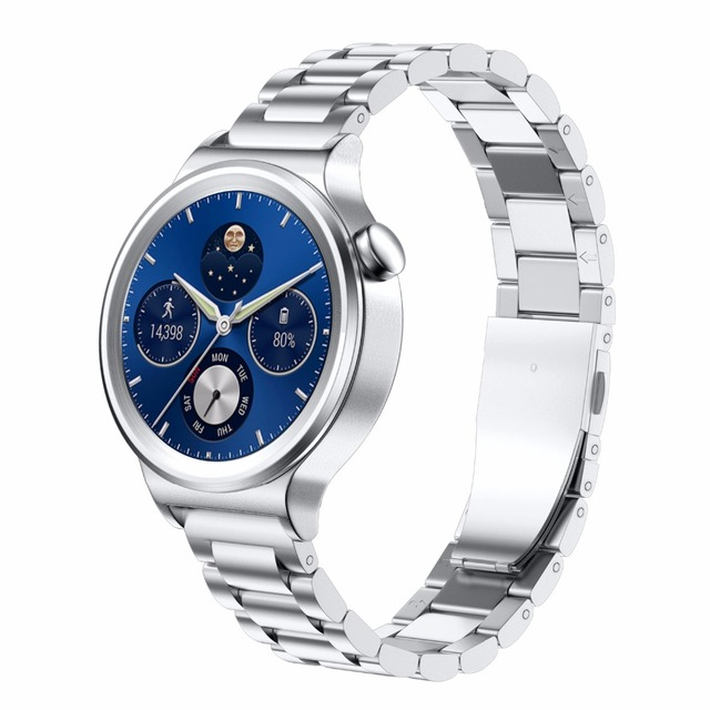 18mm width strap Stainless Steel Smart Watchband for Huawei Watch with Metal Buc