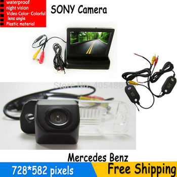 Wireless Car Parking Camera With 4.3 Inch LCD Monitor For Benz C-Class W203 E-Class W211 CLS-Class 300 W219 R350 R500 ML350