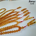 Red brown 108 beads original Burmese amber burmite+meditation pray rosary+12g with certificated handpolished +beads dia5.2mm