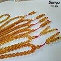 Rojo marrón 108 beads original Birmano ámbar burmite + meditación rezo del rosario + 12g con certificado handpolished + beads dia5.2mm