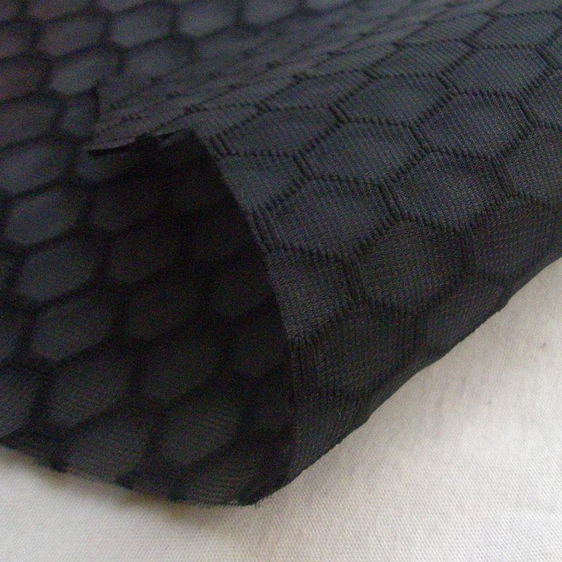 Nova moda francês de alta qualidade tecido de malha branco outono primavera favo de mel fiado-ligado preto tecido casaco de costura pano tisu