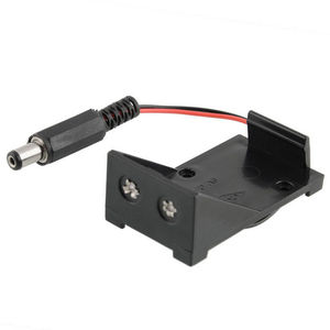 1pcs Battery Storage Clip Box Case Holder 9V Wire DC Plug 5.5 x 2.1mm For Arduino