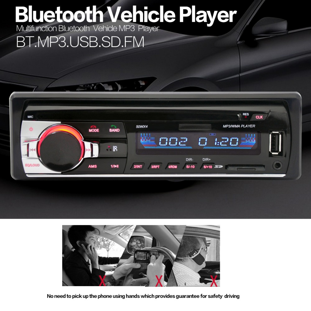 BT3.0 Bluetooth Radio FM Estéreo Del Coche Reproductor de MP3 de Audio Del Coche