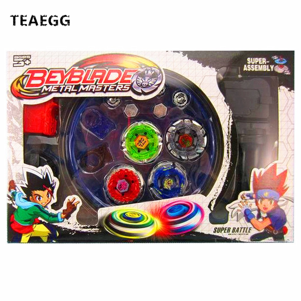 4pcs/set Beyblade Arena Spinning Top Metal Fight Beyblade Burst Metal Fusion Children Gifts Classic Toys