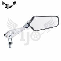 Мотоцикл зеркало заднего вида верхней части качества для kawasaki Harley yamaha алюминиевый сплав гальванизирует мотоцикл отражателя зеркало