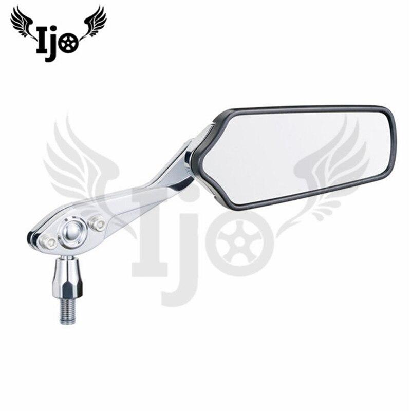 motorcycle rearview mirror top quality parts for kawasaki Harley yamaha Aluminium alloy Electroplate motorbike Reflector mirror