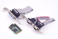 Mini PCIe To 2 Port Serial RS232 IEEE 1284 Parallel Port Card MCS9901 Chipset