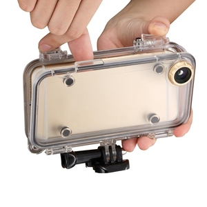 Image 3 - Sports for iPhone 6 6S Plus Waterproof Cell Phone Case Cover with 170 Degrees Wide Angle Lens Compatible with GoPro Accessories