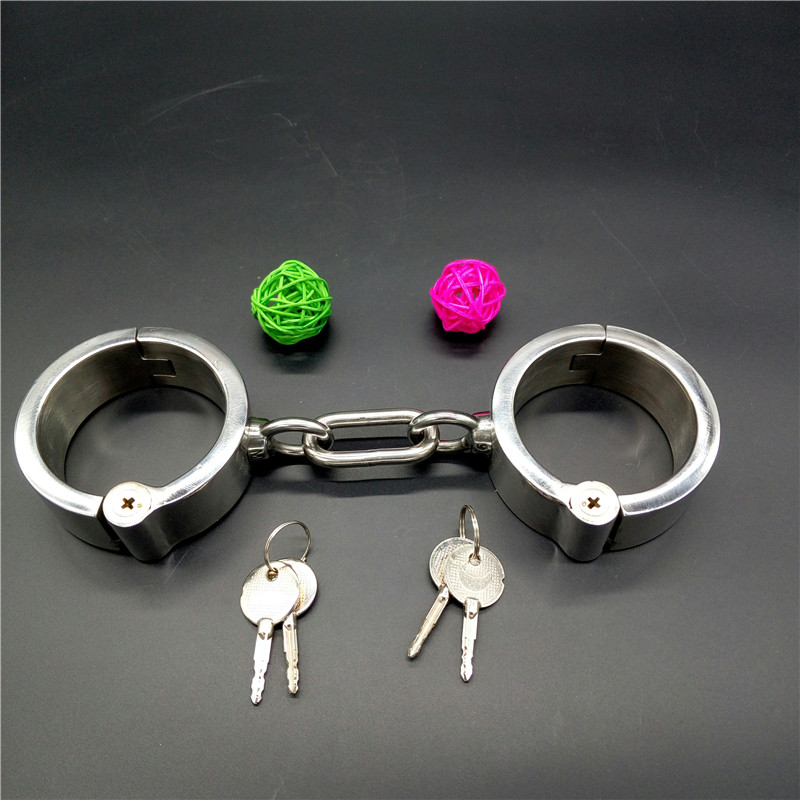 Adult Sex tools shop metal handcuffs for sex products bdsm bondage restraints set BDSM sex slave games bdsm toys. product sex shop hot heavy sex handcuffs adult sex slave games sexy sex toys bdsm fetish bondage harness set for men and women