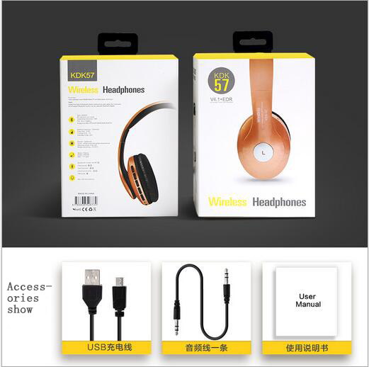 Bluetooth Wireless Headphones With MIC