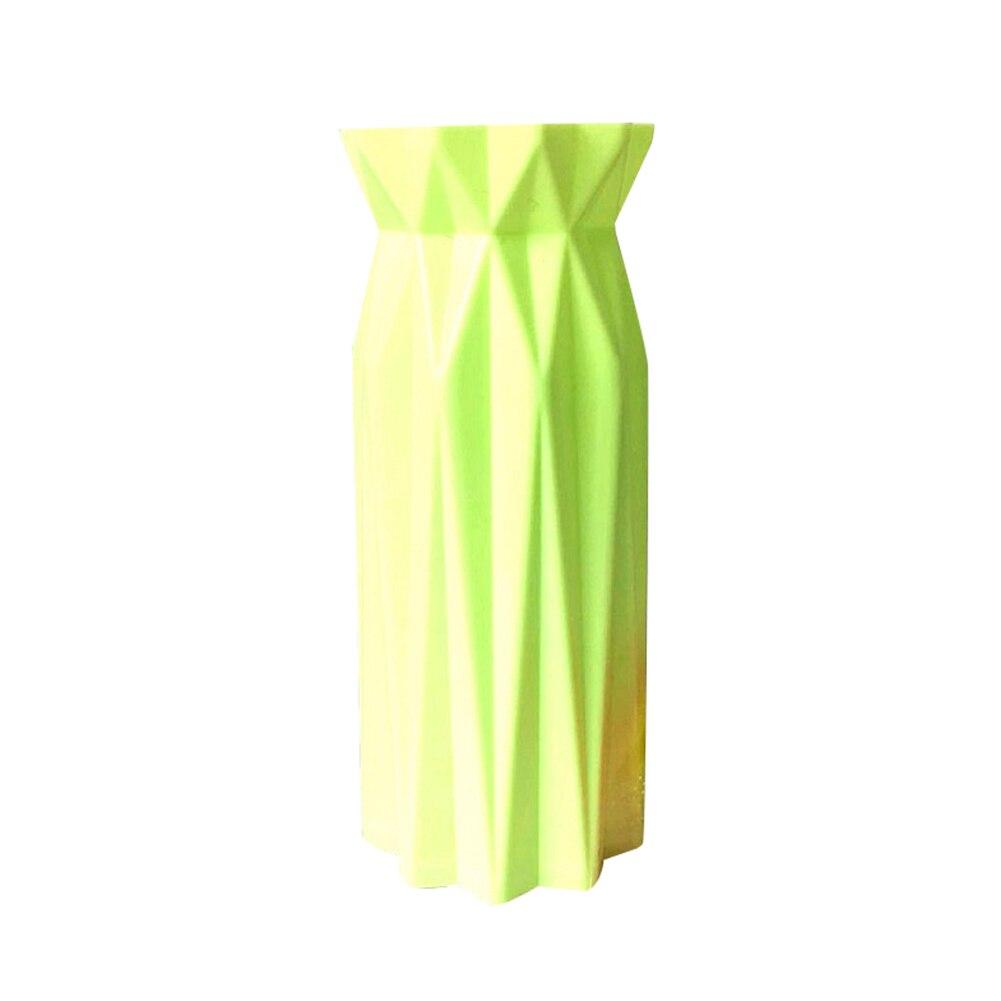 Пластиковая ваза скандинавские геометрические вазы оригами для цветов вазы для дома компоновка растений горшок ваза для украшения интерьера ваза для цветов
