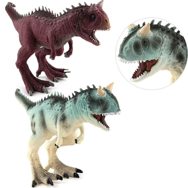 Action & Toy Figures Jurassic Carnotaurus Dinosaur Toys Plastic 21cm Dolls Animal Collectible Model Furnishings Toy Gift F3 wiben jurassic carnotaurus action figure animal model collection vivid hand painted souvenir plastic toy dinosaur birthday gift
